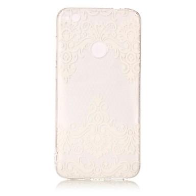 Huawei p8 lite için (2017) p10 lite kılıf kapağı dantel baskı deseni hd boyalı tpu malzeme imd işlemi telefon durumda p8 p9 lite p10