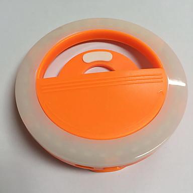 Handy-Licht führte Selbstauslöser Lampe usb Aufladung Schönheit Flash Nachtlicht eingebaute Lithium-Batterie orange