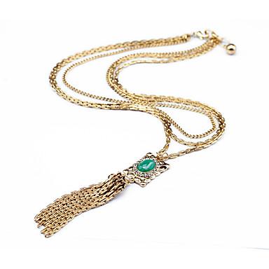 Γυναικεία Κρεμαστά Κολιέ Geometric Shape Φούντες χαριτωμένο στυλ Σκούρο πράσινο Κοσμήματα Για 1pc