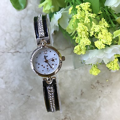 Pentru femei Ceas de Mână Ceas Brățară Simulat Diamant Ceas Ceas La Modă Chineză Quartz / imitație de diamant Aliaj Bandă Casual Roz auriu