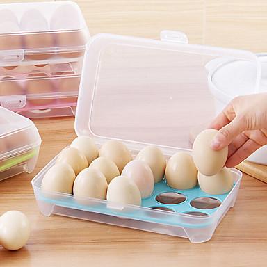 1kpl 15 tyhjä Keittiöjääkaapit munat säilytyslaatikko haltija säilyttämiseen laatikko kannettava muovinen laittaa munia laatikko kotona
