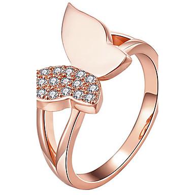 Kadın's İfadeli Yüzükler Yüzük Kristal Moda Kişiselleştirilmiş Euramerican lüks mücevher Som Gümüş Kristal Bowknot Shape Mücevher