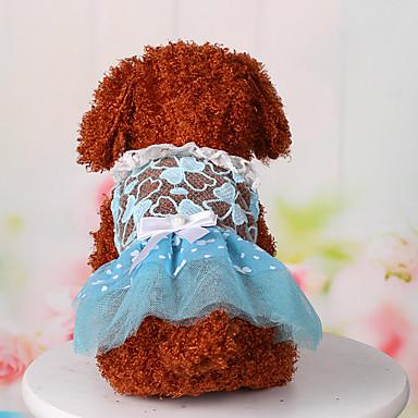 Köpek Elbiseler Köpek Giyimi Sevimli Günlük/Sade Sporlar Dantel Mavi Pembe Kostüm Evcil hayvanlar için