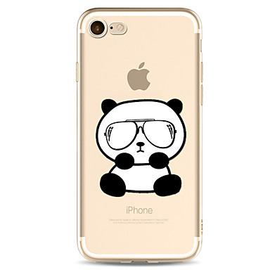 Voor apple iphone 7 7 plus 6s 6 plus case cover panda patroon geverfd hoge penetratie tpu materiaal zachte case telefoon hoesje