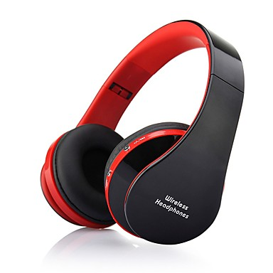 NX-8252 Over Ear Wireless Headphones Dynamic Plastic Mobile Phone Earphone with Volume Control / with Microphone / Noise-isolating Headset