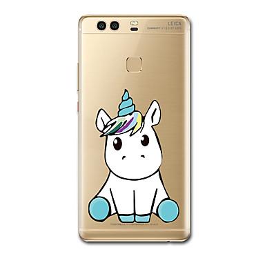Etui Käyttötarkoitus Huawei P9 Huawei P9 Lite Huawei P8 Huawei Huawei P9 Plus Huawei P8 Lite Ultraohut Kuvio Takakuori Yksisarvinen Pehmeä