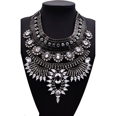Kadın's Açıklama Kolye Mücevher Mücevher Sentetik Taşlar alaşım Moda Euramerican Mücevher Uyumluluk Parti