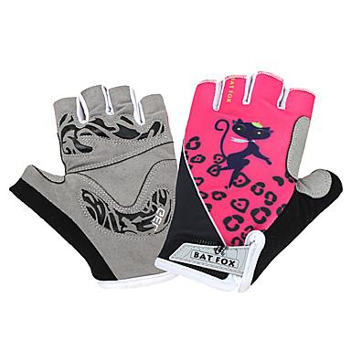 BAT FOX Activități/ Mănuși de sport Uscare rapidă Purtabil Respirabil Rezistent la șoc Fără Degete Plasă Lycra Ciclism / Bicicletă Pentru
