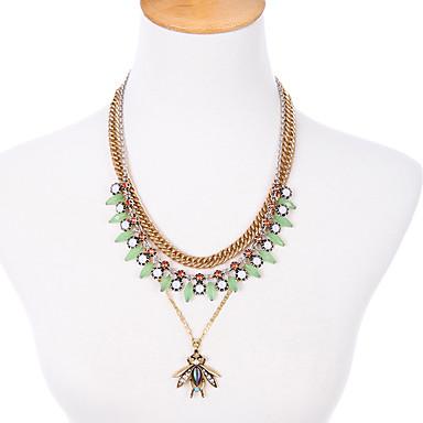 Kadın's katmanlı Kolyeler Kristal Moda Çok güzel Kişiselleştirilmiş sevimli Stil Euramerican Açık Yeşil Mücevher Için Düğün Parti 1pc