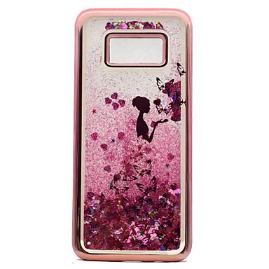 voordelige Galaxy S-serie hoesjes / covers-hoesje Voor Samsung Galaxy S8 Plus / S8 / S7 edge Beplating / Stromende vloeistof / Patroon Achterkant Vlinder / Sexy dame / Glitterglans Zacht TPU