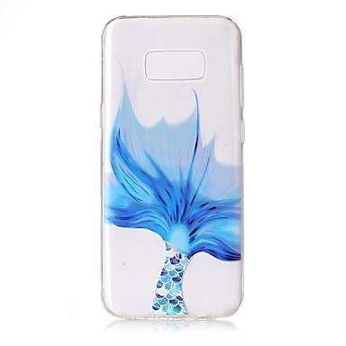 Maska Pentru Samsung Galaxy S8 Plus S8 Transparent Model Embosat Capac Spate dantelă de imprimare Moale TPU pentru S8 Plus S8 S7 edge S7