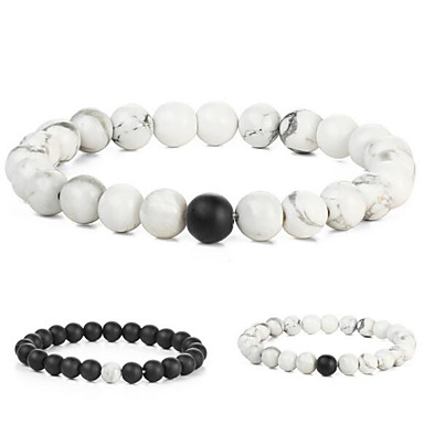 للرجال للمرأة أساور ساحرة - موضة Circle Shape أبيض أسود سوار من أجل هدية