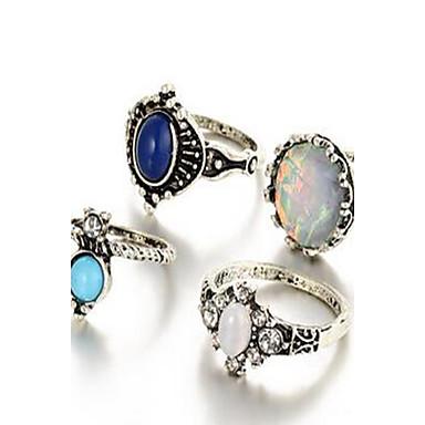 Γυναικεία Σετ Κοσμημάτων Δαχτυλίδι Βασικό Κράμα Κυκλικό Δακτυλίδια Για Καθημερινά Causal Δώρα Γάμου