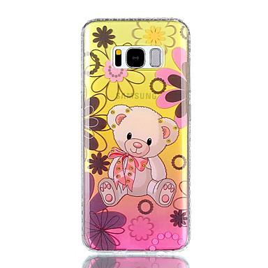 Etui Käyttötarkoitus Samsung Galaxy S8 Plus S8 Paljetti IMD Läpinäkyvä Kuvio Takakuori Eläin Kukka Kova PC varten S8 S8 Plus S7 edge S7