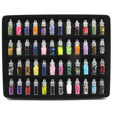 48pcs / set de decoratiuni de arta de unghii sclipici de piatra colorate pentru designul acrylic diy design