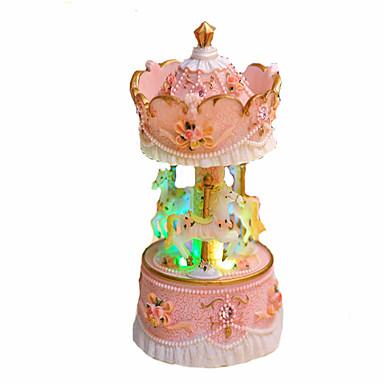 الصندوق الموسيقي دائري مرح الذهاب جولة جذاب إضاءة يضوي ليلاً للأطفال بالغين أطفال هدية للجنسين