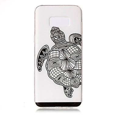 Pouzdro Uyumluluk Samsung Galaxy S8 Plus S8 Şeffaf Süslü Temalı Arka Kılıf Hayvan Yumuşak TPU için S8 S8 Plus S7 edge S7