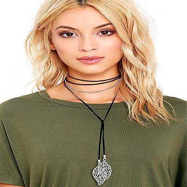 Damskie Leaf Shape Spersonalizowane Frędze Modny euroamerykańskiej Naszyjniki choker Biżuteria Stop Naszyjniki choker , Codzienny Casual