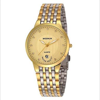 63eea4bded9 Homens Relógio de Moda Quartzo Prata   Dourada Analógico Preto Prata Preto  e Dourado