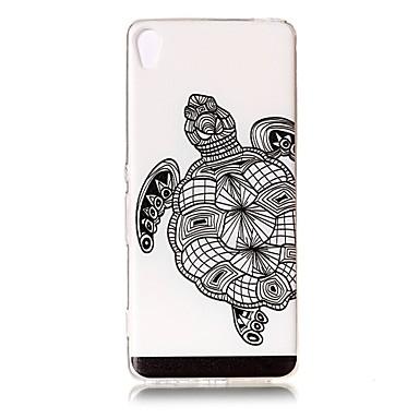 Etui Käyttötarkoitus Sony Sony Xperia XA Läpinäkyvä Kuvio Koristeltu Takakuori Eläin Pehmeä TPU varten Sony Xperia XZ Premium Sony Xperia