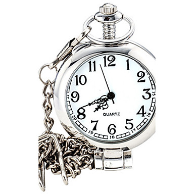 للرجال كوارتز ساعة المعصم ساعة جيب ساعة كاجوال أشابة فرقة سحر موضة فضة