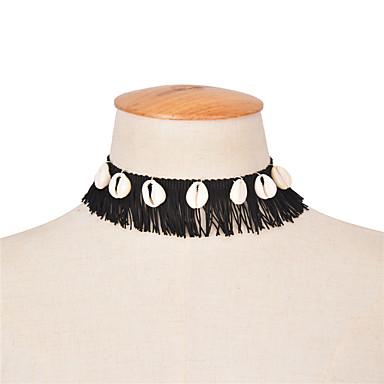 Dames Anderen Gepersonaliseerde Tupsu Vintage Modieus Euramerican Choker kettingen Sieraden Stof Schelp Choker kettingen , Speciale