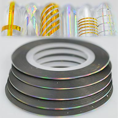 100 Glitter & Poudre Foil Stripping Tape Modă Zilnic Calitate superioară