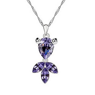 Kadın's Uçlu Kolyeler Mücevher Mücevher Değerli Taş alaşım Eşsiz Tasarım Moda Mücevher Uyumluluk Parti Günlük
