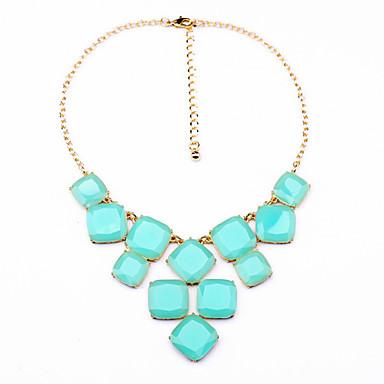 Kadın's Tellerinin Kolye Square Shape Eşsiz Tasarım sevimli Stil Pembe Açık Mavi Mücevher Için Günlük 1pc