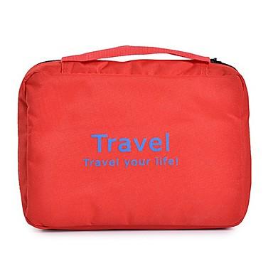 منظم أغراض السفر حقيبة أدوات تجميل للسفر حقيبة مستحضرات التجميل المحمول تخزين السفر سعة كبيرة إلى ملابس نايلون / السفر