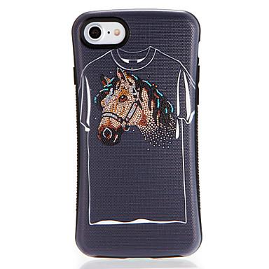لتفاح iphone7 7plus حالة تغطية نمط الغطاء الخلفي حالة الكرتون لينة تبو 6 ثانية زائد 6 زائد 6 ثانية 6