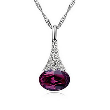 Damskie Naszyjniki z wisiorkami Biżuteria Biżuteria Kamień szlachetny Stop Unikalny Modny White Purple Czerwony Light Blue Biżuteria Na
