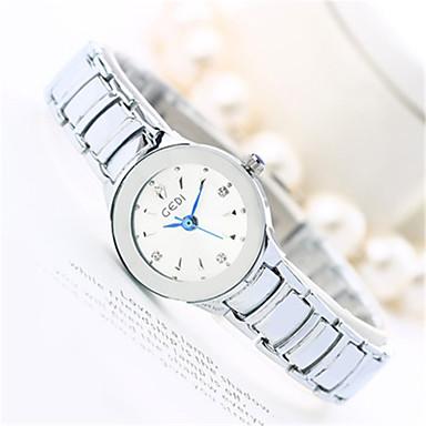 Dames Modieus horloge Japanse quartz Waterbestendig Legering Band Cool Vrijetijdsschoenen Zilver Goud Rose