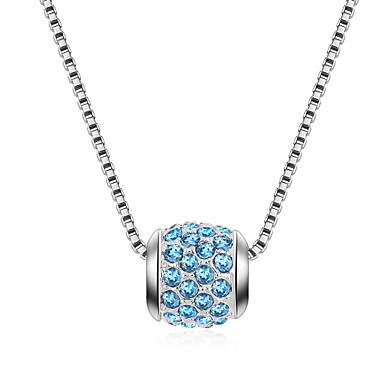 Kadın's Uçlu Kolyeler Kristal Çok güzel Kişiselleştirilmiş sevimli Stil Euramerican Mücevher Uyumluluk Düğün Parti