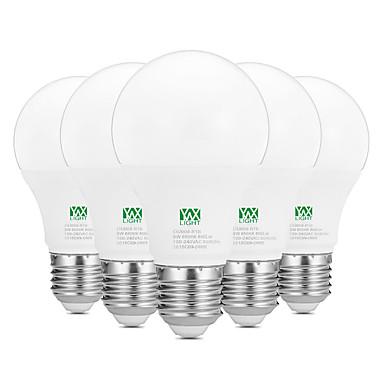 YWXLIGHT® 5pcs 9W 800-900lm E26 / E27 Żarówki LED kulki 18 Koraliki LED SMD 2835 Dekoracyjna Ciepła biel Biały 100-240V