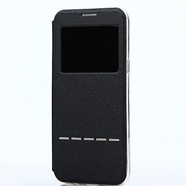 Недорогие Чехлы и кейсы для Galaxy S-ASLING Кейс для Назначение SSamsung Galaxy S8 Plus / S8 с окошком / Флип / С поддержкой Smart Touch Чехол Однотонный Мягкий Кожа PU для S8 Plus / S8