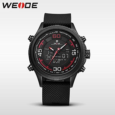 WEIDE Herren Sportuhr Militäruhr Kleideruhr Modeuhr Armbanduhr Digitaluhr Japanisch Quartz digitalKalender Wasserdicht Duale Zeitzonen