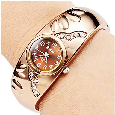 Ceas de Mână Chineză Quartz Aliaj Bandă Brățară rigidă Auriu Auriu