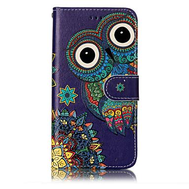 Maska Pentru Huawei P9 Lite Huawei Huawei P8 Lite Titluar Card Portofel Cu Stand Întoarce Model Embosat Carcasă Telefon Bufniţă Greu PU