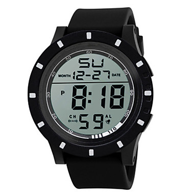 Heren Dames Sporthorloge Digitaal horloge Chinees Digitaal Silicone Band Zwart