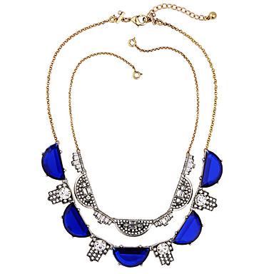 Damskie Pasemka Naszyjniki Kryształ Osobiste euroamerykańskiej minimalistyczny styl Dark Blue Biżuteria Na Ślub Impreza 1szt