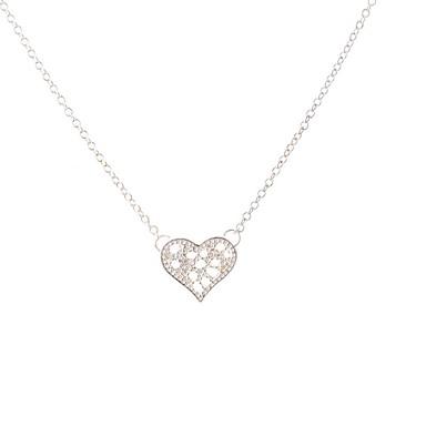 Kadın's Uçlu Kolyeler Mücevher Aşk Kalp Moda Kişiselleştirilmiş Euramerican Mücevher Uyumluluk Düğün Parti