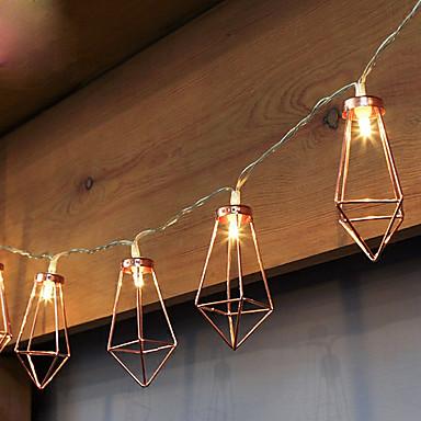 1m Fâșii de Iluminat 10pcs LED-uri Alb Cald <5V