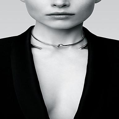Kadın's Yuvarlak Kişiselleştirilmiş Temel Moda Euramerican minimalist tarzı Gerdanlıklar Mücevher alaşım Gerdanlıklar , Özel Anlar Günlük