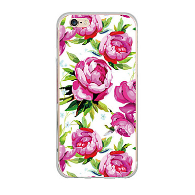 غطاء من أجل iPhone 7 iPhone 7 Plus iPhone 6s Plus أيفون 6بلس iPhone 6s ايفون 6 أيفون 5 Apple نحيف جداً نموذج غطاء خلفي زهور ناعم TPU إلى