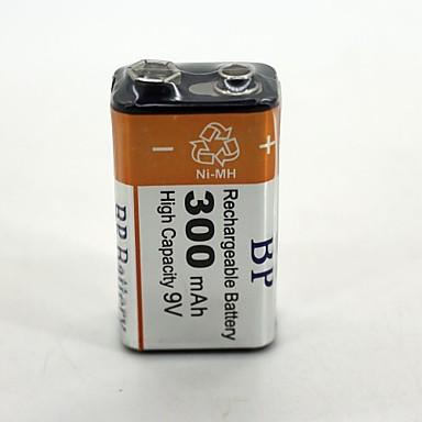 1 kpl bp 9v 9 voltin ni-mh ladattava akku bateria akut 300mah