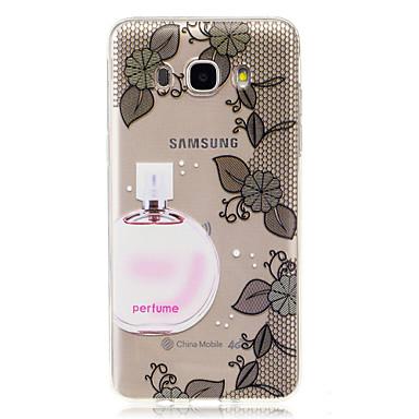Maska Pentru Samsung Galaxy J7 (2016) J5 (2016) IMD Transparent Capac Spate Femeie Sexy Floare Moale TPU pentru J7 (2016) J5 (2016) J5 J3