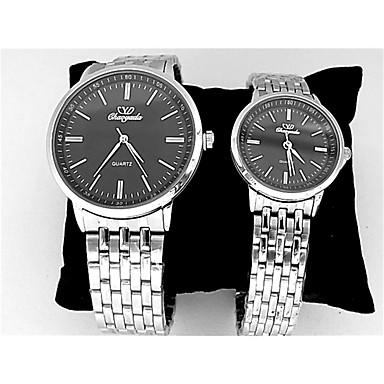 Voor Stel Dress horloge Chinees Kwarts Roestvrij staal Band Zilver