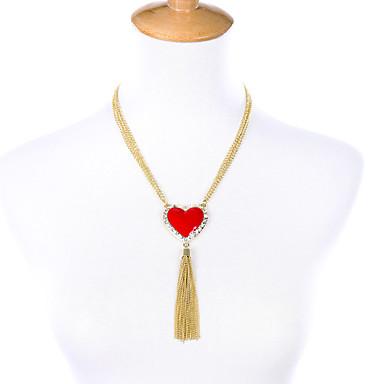 Γυναικεία Κρεμαστά Κολιέ Heart Shape Φιλία Φούντες Εξατομικευόμενο Κόκκινο Κοσμήματα Για Πάρτι 1pc