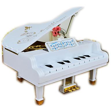 الصندوق الموسيقي مربع هدية للأطفال بالغين أطفال هدية خشب معدن فتيات